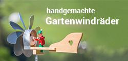 Windräder aus Holz für den Garten